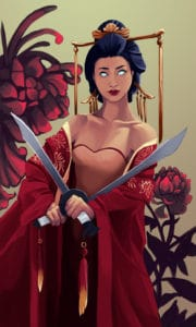 two of swords illustration