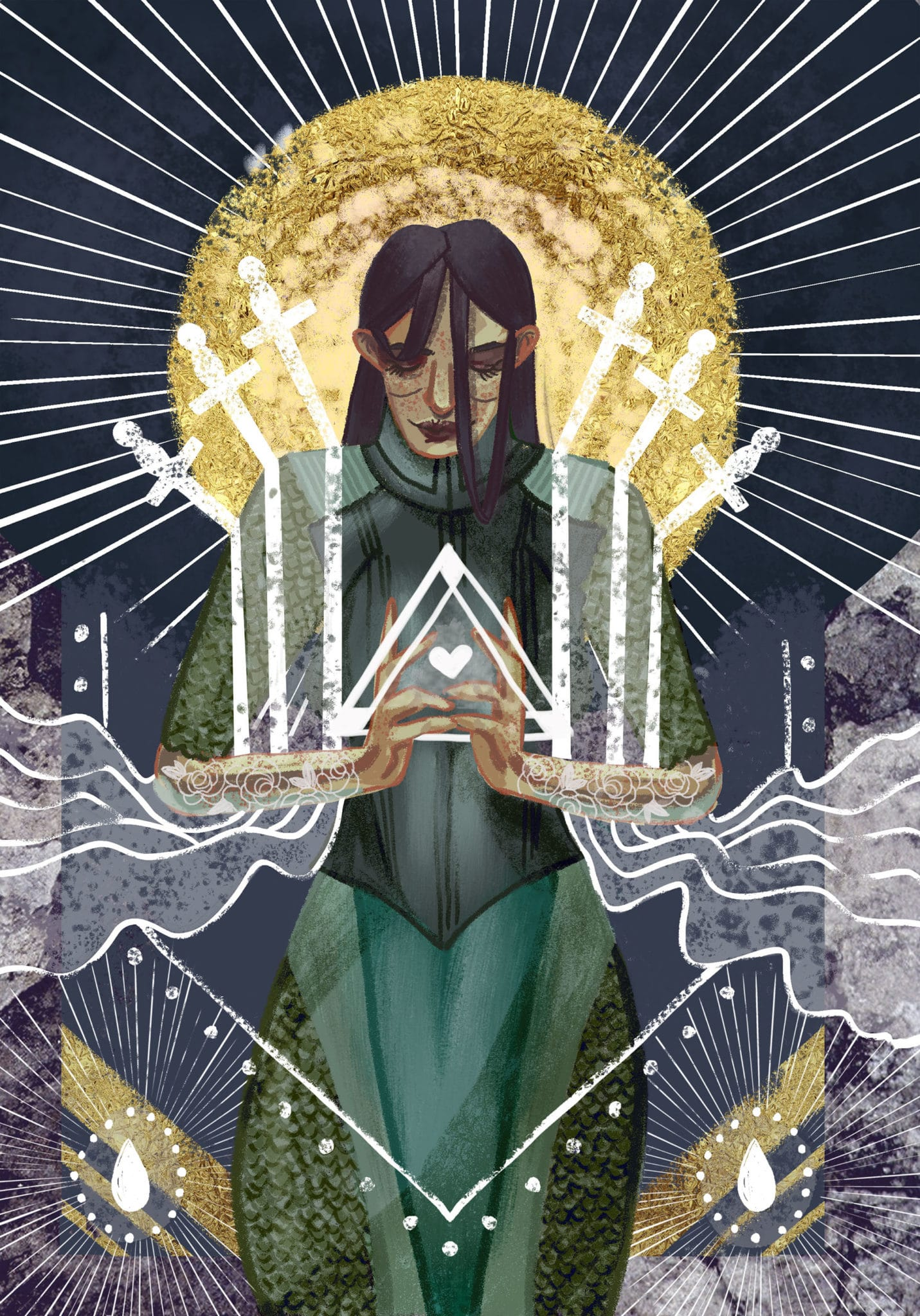 six of swords painting
