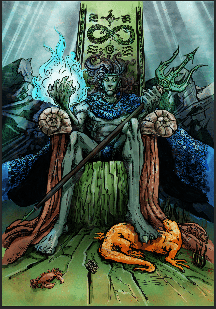 king of wands illustration