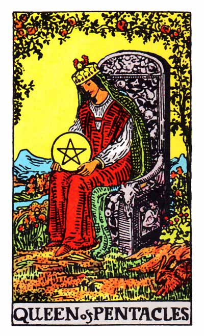 queen of pentacles rider-waite
