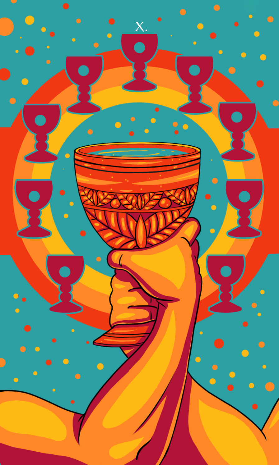 ten of cups illustration