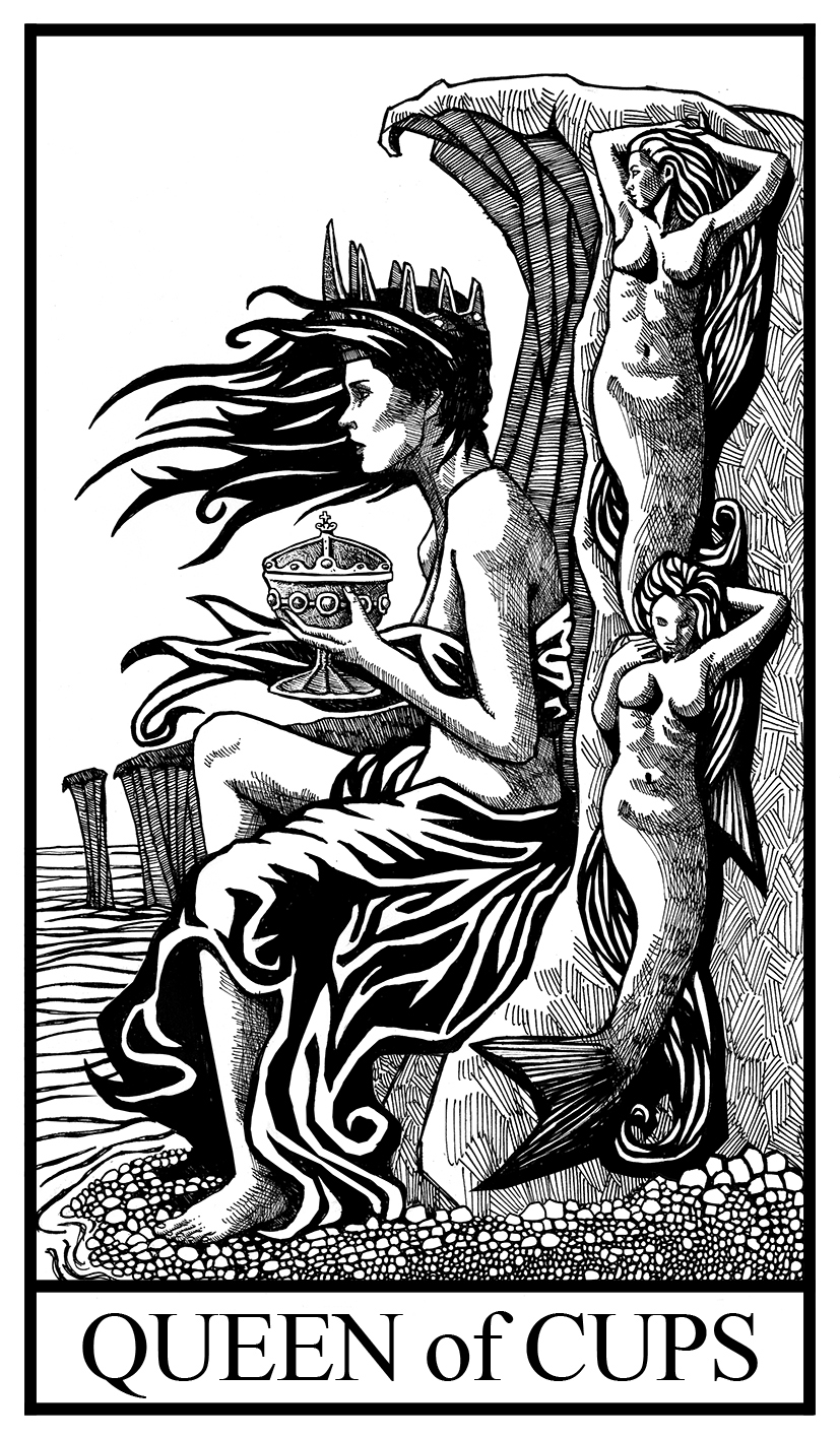 Queen of cups illustration-2