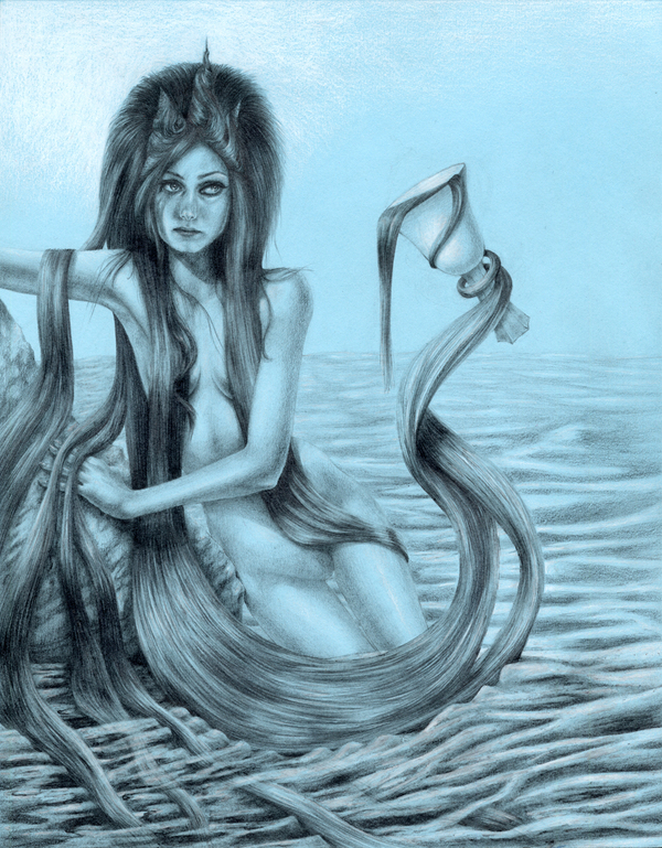 queen of cups illustration