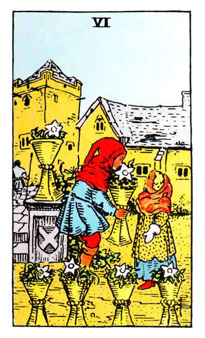 six of cups rider-waite