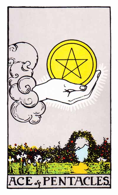 ace of pentacles rider-waite